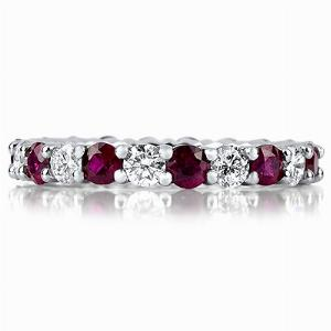 Coloured Stone Eternity Rings