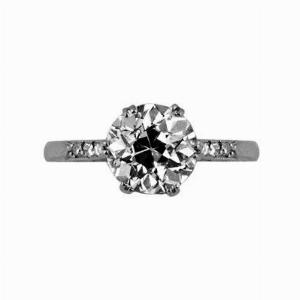 Old Cut Diamond Solitaire 2.25ct GSI1 Gem A