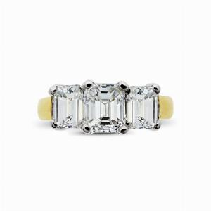 Three Stone Emerald Cut Ring 1.50ct