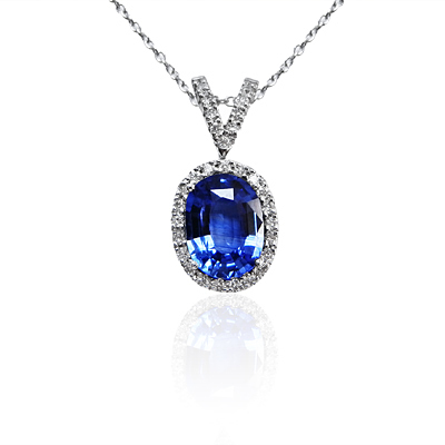 sapphire saphire and diamond gold in white pendant necklace branch vine