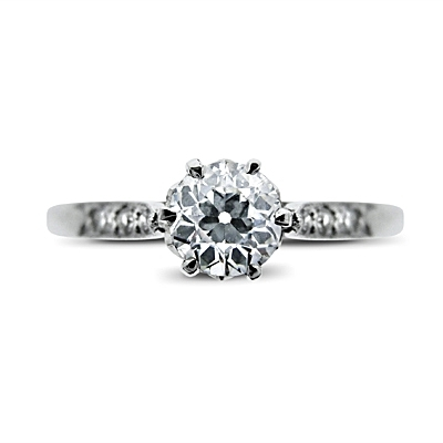 Vintage Old Cut Diamond Solitaire Ring - 0.40ct