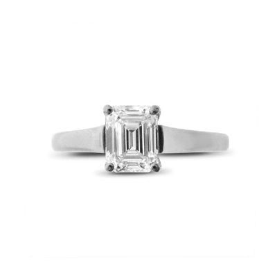 Emerald Cut Claw Set Solitaire 0.90ct EVS2 GIA