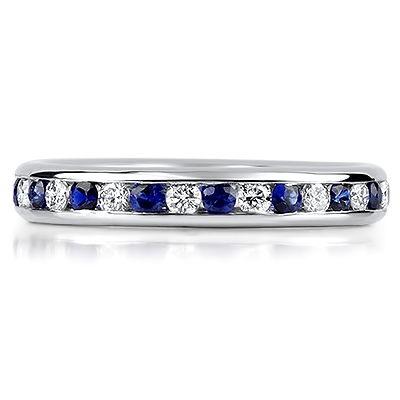 ORVIETO Channel Set Coloured Stone & Brilliant Cut Eternity Rings