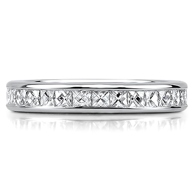 RAVENNA Channel Set French Cut Full Eternity Rings