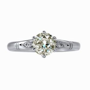 Old Cut Diamond Solitaire Ring - 0.85ct