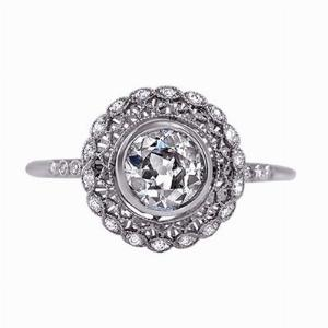 Old Cut Diamond Cluster Ring - 0.75ct