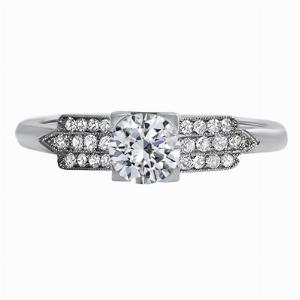 Odette - Triple Row Diamond Engagement Ring