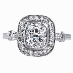 Old Cut Diamond Cluster Ring - 1.20ct