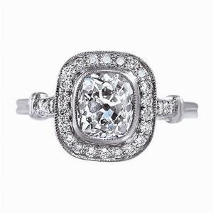 Old Cut Diamond  Engagement Ring - 1.40ct