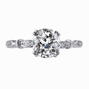 Old Cut Leaf Shoulder Diamond Ring - 1.02ct F VS2