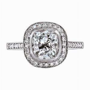 Old Cut Diamond Cluster Ring - 1.50ct