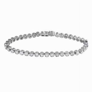 Rubover Brilliant Cut Diamond Line Bracelet
