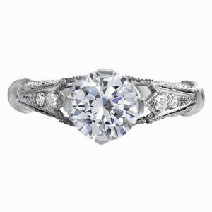 Cecille - Tulip Shoulder Diamond Engagement Ring