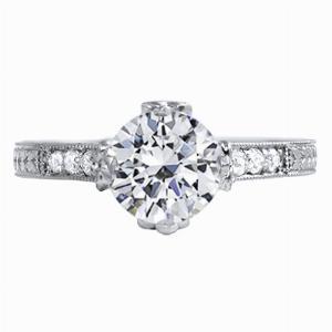 Coralie - Ornate Diamond Set Engagement Ring