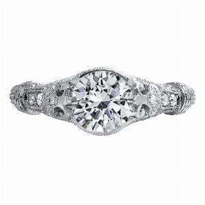 Fleur - Vintage Diamond Set Engagement Ring