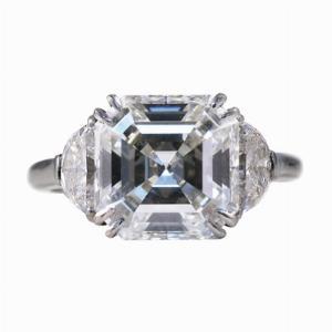 5.09ct Asscher Cut Diamond Ring