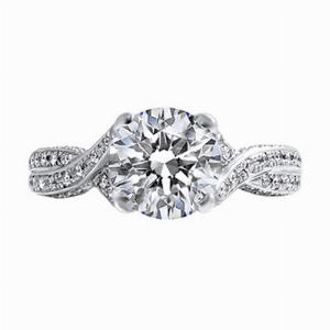 Brilliant Cut Diamond Engagement Ring - 1.83ct - GIA