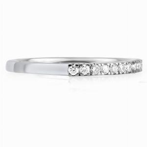 SORANA Micro Set Brilliant Cut Half Eternity Rings