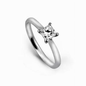 Princess Cut Engagement Ring 0.55ct DVVS2 GIA