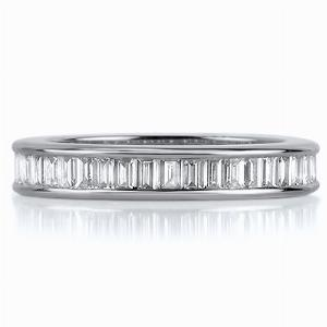 AMALFI Channel Set Baguette Cut Full Eternity Rings