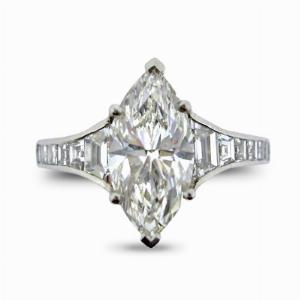 Marquise Cut Diamond Ring 2.02ct G VS1 GIA