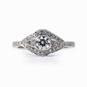 Old Cut And French Cut Diamond Dress Ring - 0.70ct