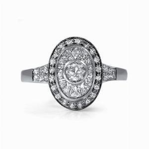 Old & French Cut Diamond Platinum Dress Ring - 0.82ct