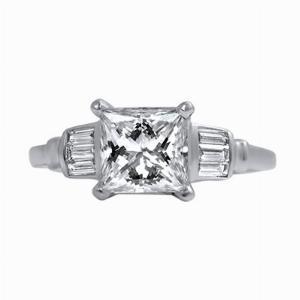 Princess Cut Engagement Ring - 1.50ct - E SI1 - HRD