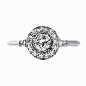 Brilliant Cut Diamond Cluster Ring - 0.45ct