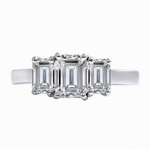 Emerald Cut Diamond Three Stone - 1.68ct - F VVS