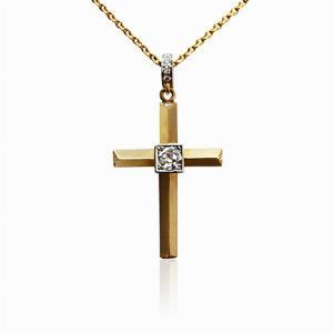 Heera Cut Diamond Cross Pendant