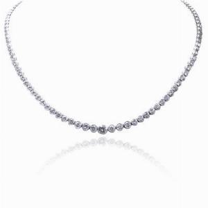 Brilliant Cut Rubover Necklace 13ct -14ct