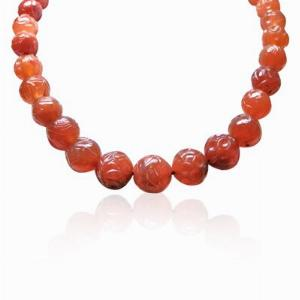 Carved Brown Agate Necklace