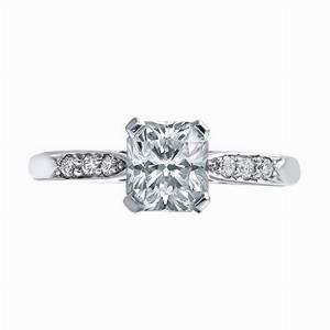 Radiant Cut Diamond Single Stone 1.02ct G VVS2 Gem A
