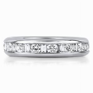 GENOVA Channel Set Brilliant & Baguette Cut Full Eternity Rings