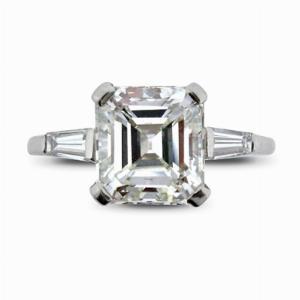 Emerald Cut  Single Stone Ring 2.37ct H VVS2 GIA