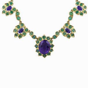 Amethyst & Emerald Necklace