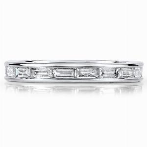 MILANO Channel Set Baguette Cut Full Eternity Rings