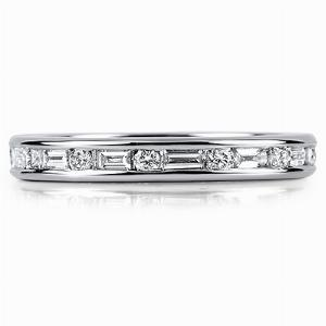 TOSCANA Channel Set Brilliant Cut Or Princess Cut & Baguette Cut Full Eternity Rings