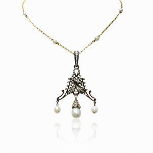 Victorian Chandelier Diamond Pendant