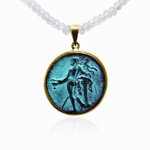 Verdigris Medallion Pendant