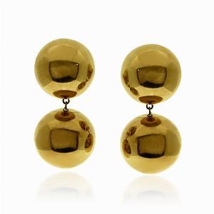 18ct Gold Orb Earrings
