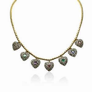 Victorian Dearest Gem Stone & Diamond Necklace