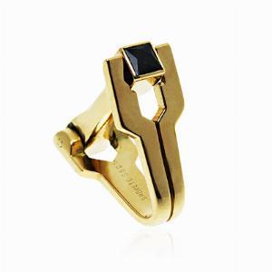 18ct Yellow Gold Sapphire Cufflinks