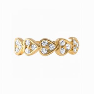 18ct Yellow Gold Diamond Heart Ring - 0.45ct