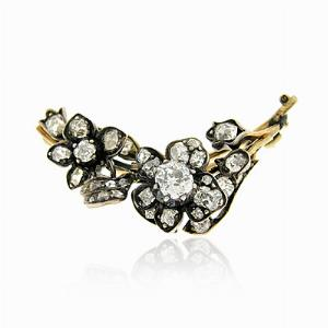 Old Cut Diamond Brooch