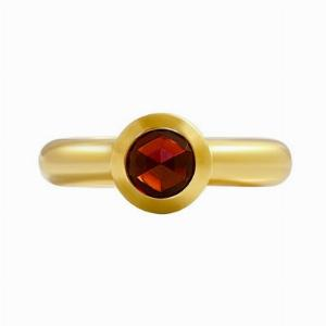 18ct Gold Garnet Dress Ring By Tiffany & Co, France