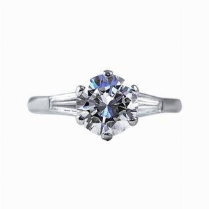Brilliant Cut Engagement Ring 1.59ct GVS1 HRD