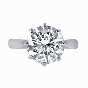 Brilliant Cut Diamond Solitaire Ring  - 3.00ct