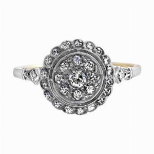 Vintage Diamond Target Ring